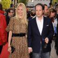 Le cinéaste britannique Matthew Vaughn et sa moitié, le top model allemand Claudia Schiffer...