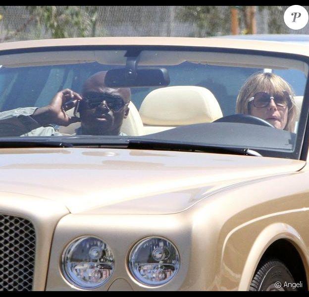 Heidi Klum au volant de sa Bentley à Los Angeles avec son époux, Seal.