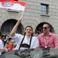 Franck Ribéry et son équipe fêtent leur titre dans les rues de Munich, le 9 mai 2010 !