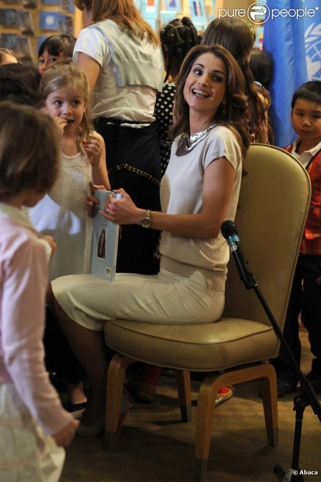 La reine Rania de Jordanie en voyage promotionnel aux Etats-Unis