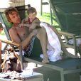 Larry Birkhead et Dannielynn, la fille d'Anna Nicole Smith, à Hawaï, le 25 septembre 2007 !