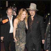 Vanessa Paradis et Johnny Depp, main dans la main, ont illuminé la soirée de Jean-Roch...