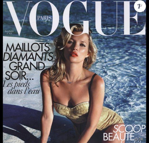 Kate Moss en couverture de Vogue Paris