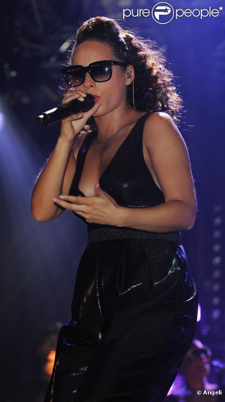 Alicia Keys sur la scène du festival BBC Radio 1, le 22 mai 2010