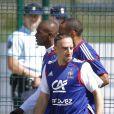 Franck Ribéry en préparation avec les Bleus à tignes, le 24 mai 2010 !
