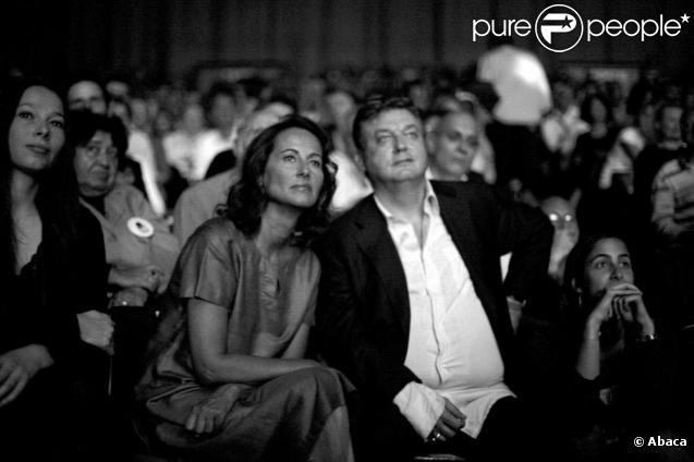 Dominique Besnehard et Ségolène Royal en septembre 2008