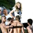 Kylie Minogue sur le tournage du clip  All The Lovers , à Los Angeles, le 8 mai 2010 !