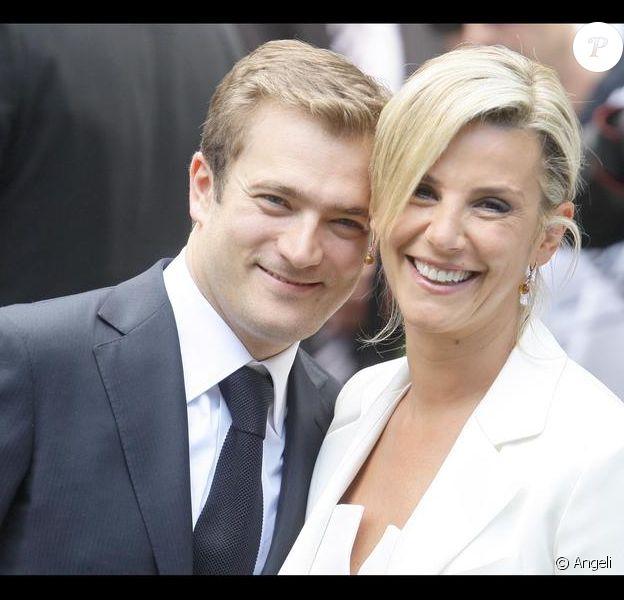 Laurence Ferrari et Renaud Capuçon lors de leur mariage en juillet 2009