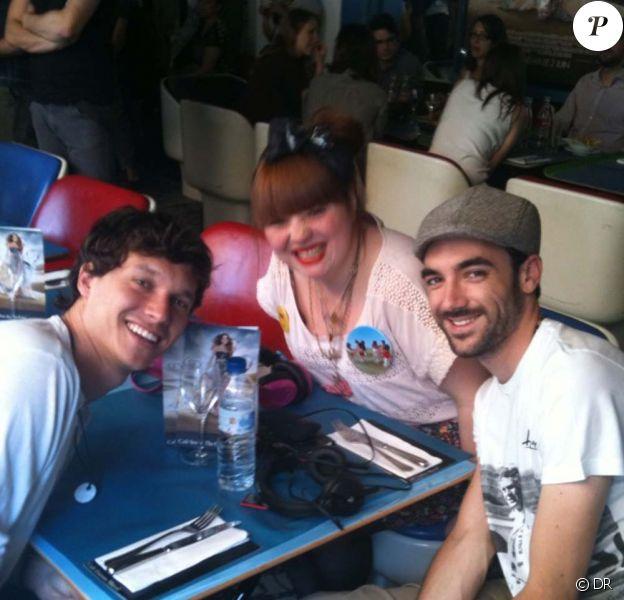 Luce, Ramon et François de Nouvelle Star au Café Sex and the city à Paris, le 4 juin 2010 !