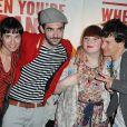 Lusse, Lucie, Ramon et François de  Nouvelle Star  à l'avant-première parisienne de  When you're strange , le 1er juin.