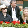 Antoine Arnault et sa soeur Delphine à Roland-Garros
