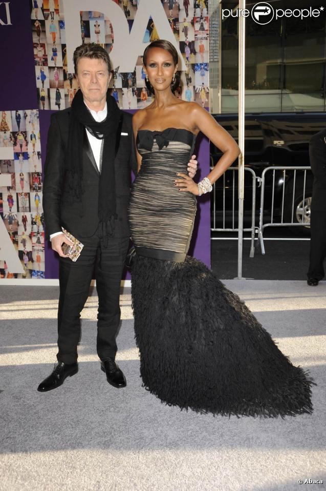 David et Iman Bowie lors de la soirée des Fashion Awards 2010 à New York, le 7 juin 2010