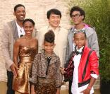Will Smith, Jada Pinkett Smith, Jackie Chan, Willow Smith, Trey Smith et Jaden Smith lors de l'avant-première de Karate Kid le 7 juin 2010 à Los Angeles