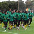 L'équipe ivoirienne à l'entraînement en Afrique du Sud, à Durban, le 10 juin 2010.
