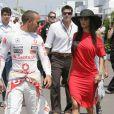"""""""Lewis Hamilton et Nicole Scherzinger lors du Grand Prix du Canada, le 13 juin 2010"""""""