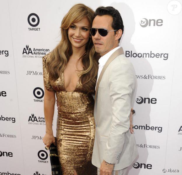 Jennifer Lopez et Marc Anthony lors du concert et de la remise de prix du printemps à l'Apollo Theater à New York le 14 juin 2010