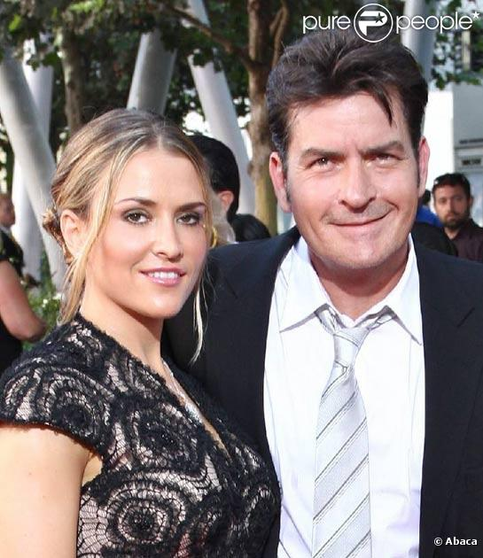 Charlie Sheen et sa femme Brooke Mueller à Los Angeles, en septembre  2009