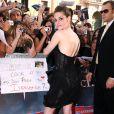 Kristen Stewart, habillée par Marchesa, lors de la première du film à Rome le 17 juin 2010