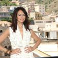 Maria Grazia Cucinotta absolument magnifique lors du Festival de Taormina, en Italie, le 17 juin 2010.