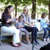 La jolie Laura Dern s'offre un pique-nique ensoleillé à Paris avec ses deux adorables enfants !