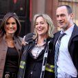 Sharon Stone, Mariska Hargitay et Christopher Meloni sur le tournage de New York Unité Spéciale, le 17 mars 2010