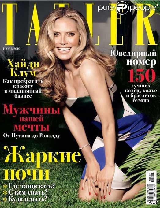 Heidi klum en couverture de Tatler Russie
