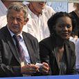Rama Yade, à l'occasion de l'Open EDF, qui se tient au Lagardère Club de Paris, le 26 juin 2010.