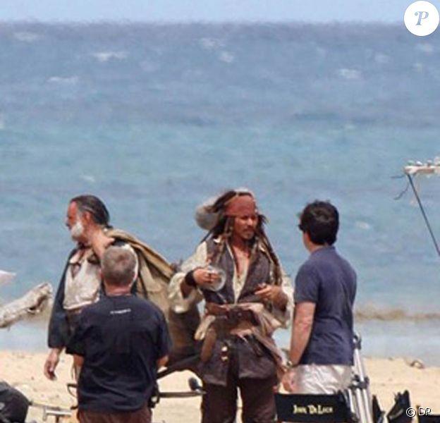 Des photos du tournage de Pirates des Caraïbes 4.