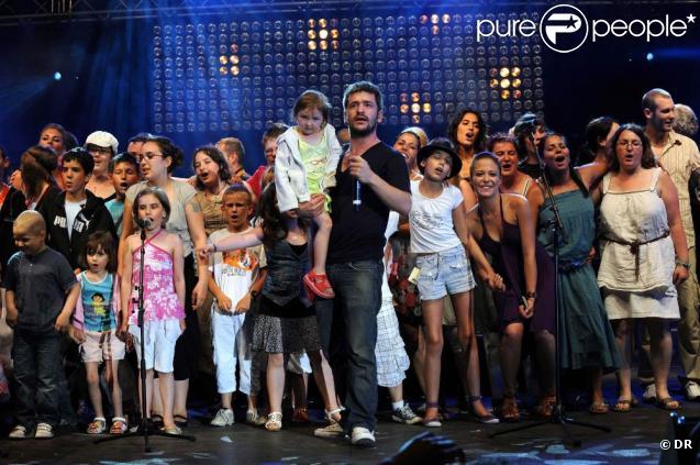 Grégoire au festival Tout le monde chante contre le cancer. juillet 2010