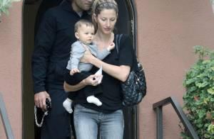 Gisele Bündchen et Tom Brady : Des parents très attentifs à leur craquant Benjamin, âgé de 7 mois !