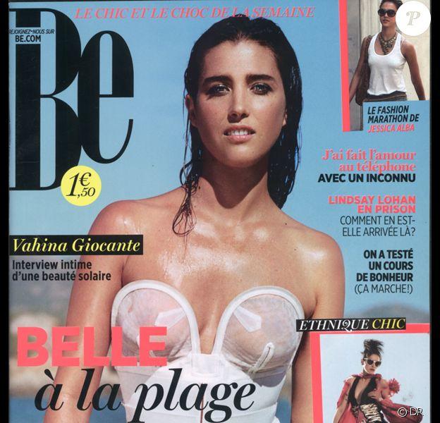 Vahina Giocante en couverture de BE