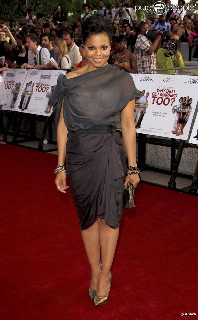 Janet Jackson à Londres, le 21 mai 2010