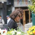 Fanny Ardant lors des obsèques de Bernard Giraudeau, le 23 juillet 2010, en l'église Saint-Eustache, à Paris.
