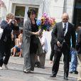 Anny Duperey aux obsèques de Bernard Giraudeau le 23 juillet 2010