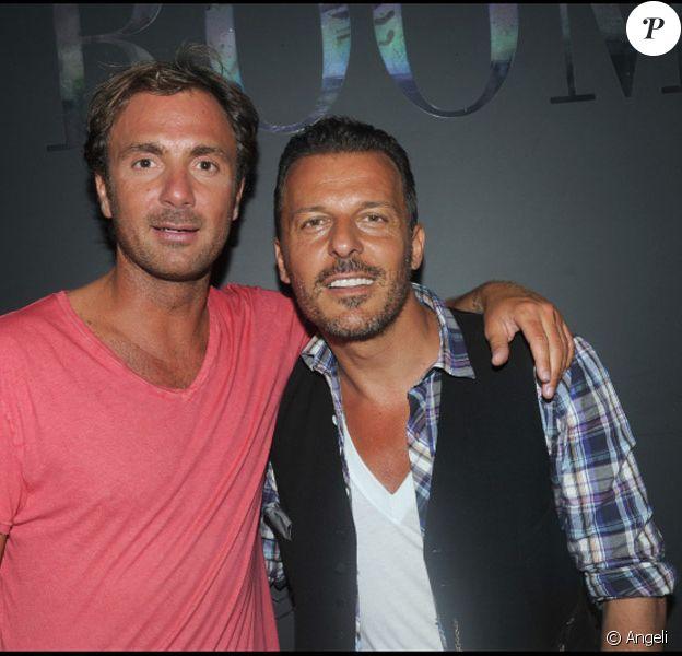 Christophe Dugarry et Jean-Roch lors d'une soirée au VIP Room à Saint-Tropez le 28 juillet 2010