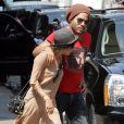 Lenny Kravitz et sa fille Zoe Kravitz se promènent à New York