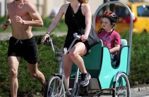 Kate Winslet en balade avec son fils et un mannequin presque nu... Son nouveau compagnon ?
