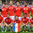 Le 25 août 2010, Adriana Karembeu, ambassadrice du foot féminin, assistaient en compagnie de son mari Christian, de Rama yade et de Fernand Duchaussoy à la victoire écrasante des Bleues sur la Serbie en éliminatoires du Mondial 2011.