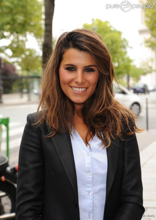 Karine Ferri lors de la conférence de presse annuelle de la chaîne Direct 8  à Paris