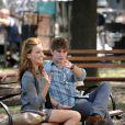 Chace Crowford et Katie Cassidy sur le tournage de Gossip Girl à New york, le 26 août 2010