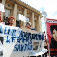 La manifestation en soutien à Sakineh à Paris le 28 août 2010