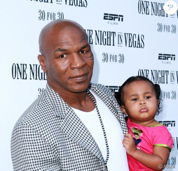 Mike Tyson et sa fille Milan, à la soirée ESPN pour One Night in Vegas
