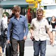 Chace Crawford sur le tournage de Gossip Girl à New York le 3 septembre 2010