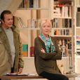 Le filage de la pièce Le Technicien à Paris le 9 septembre 2010 : Roland Giraud et Maaike Jansen