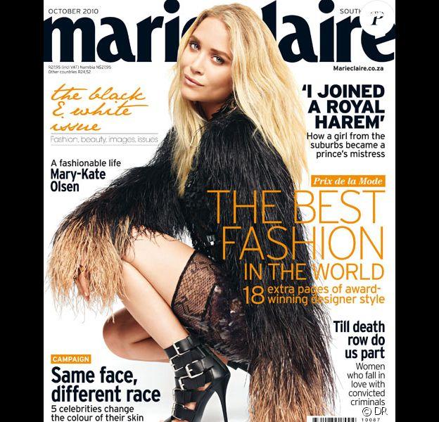 Mary-Kate Olsen pose en couverture du Marie-Claire sud-africain du mois d'octobre 2010.