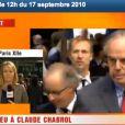 Frédéric Mitterrand lors de l'hommage rendu à Claude Chabrol à la Cinémathèque de Paris, le 17 septembre 2010