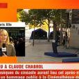 Cérémonie en hommage à Claude Chabrol à la Cinémathèque de Paris, le 17 septembre 2010