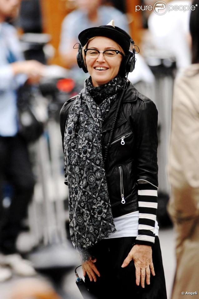 Madonna sur le tournage de son film à Central Park, souriante, directive, précise, attentive... elle travaille sérieusement !