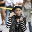 Madonna sur le tournage de son film à New York, elle a l'oeil à tout !