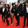 Présentation de  Hors-la-loi  à Cannes, le 21 mai 2010 : Rachid Bouchareb, Jamel Debbouze, Sami Bouajila, Roschdy Zem